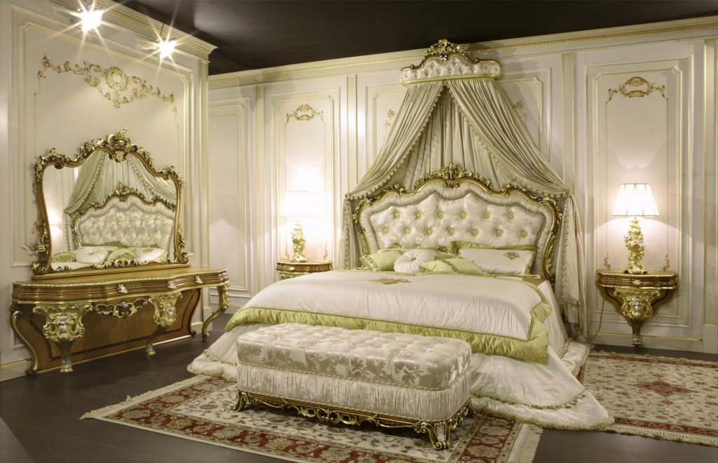 Luxury Classic Bedroom Furniture Baroque Style Dressing Table And