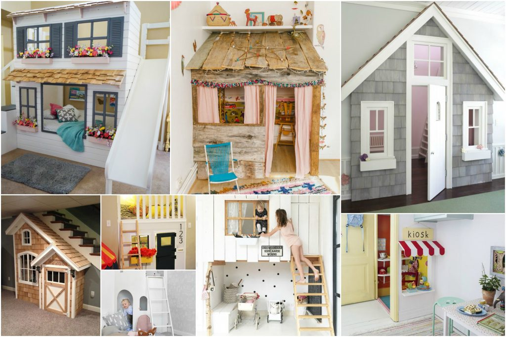 Make Your Kids Tickled Pink With These Indoor Playhouse Ideas