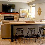 Man Or Guy Friendly Family Room Decorating Ideas With A Bar Table
