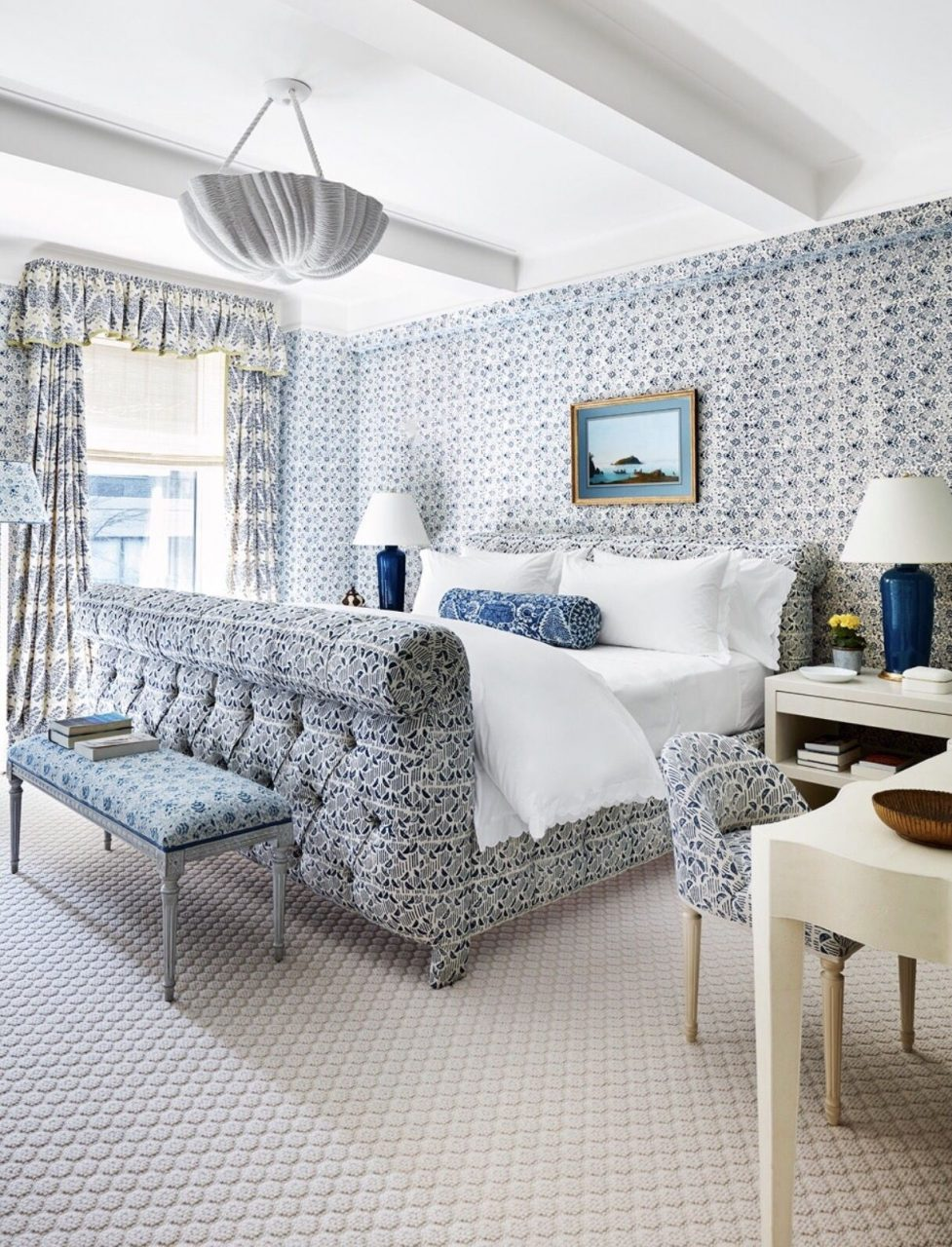Markham Roberts Blue And White Bedroom Photo Thomas Loof For House
