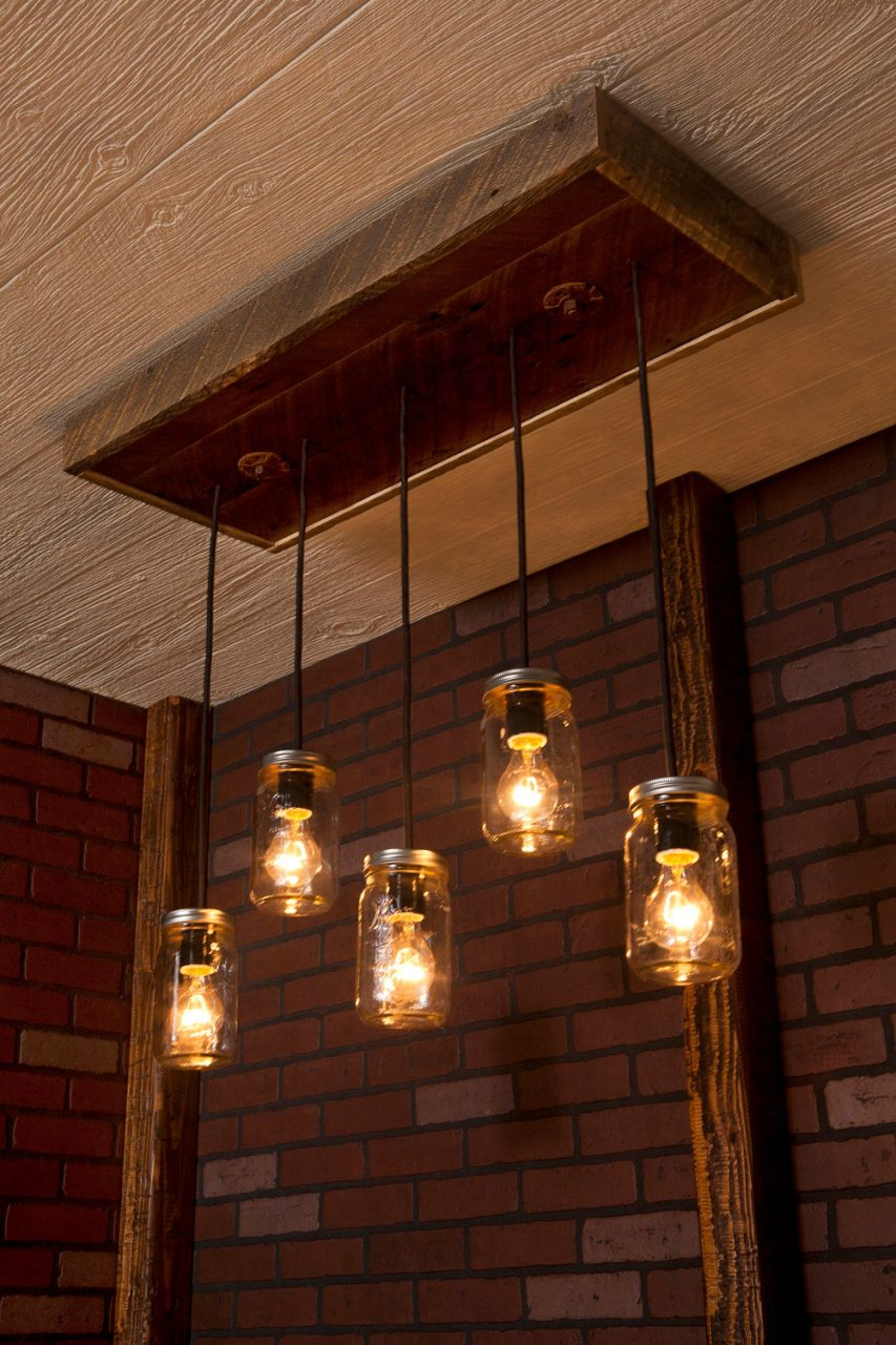 Mason Jar Chandelier 5 Lights R 1434 Cmj 5 Born Again Creative