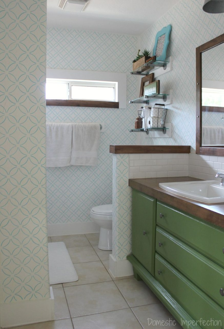 Master Bathroom Reveal Domestic Imperfection