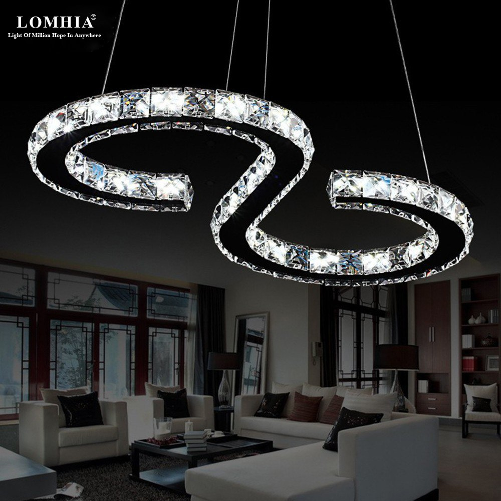 Minimalist Modern S 8 Shape K9 Led Pendant Lights Lamps Restaurant
