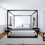 Modern Canopy Bed King Size The Holland Romantic Touch Modern