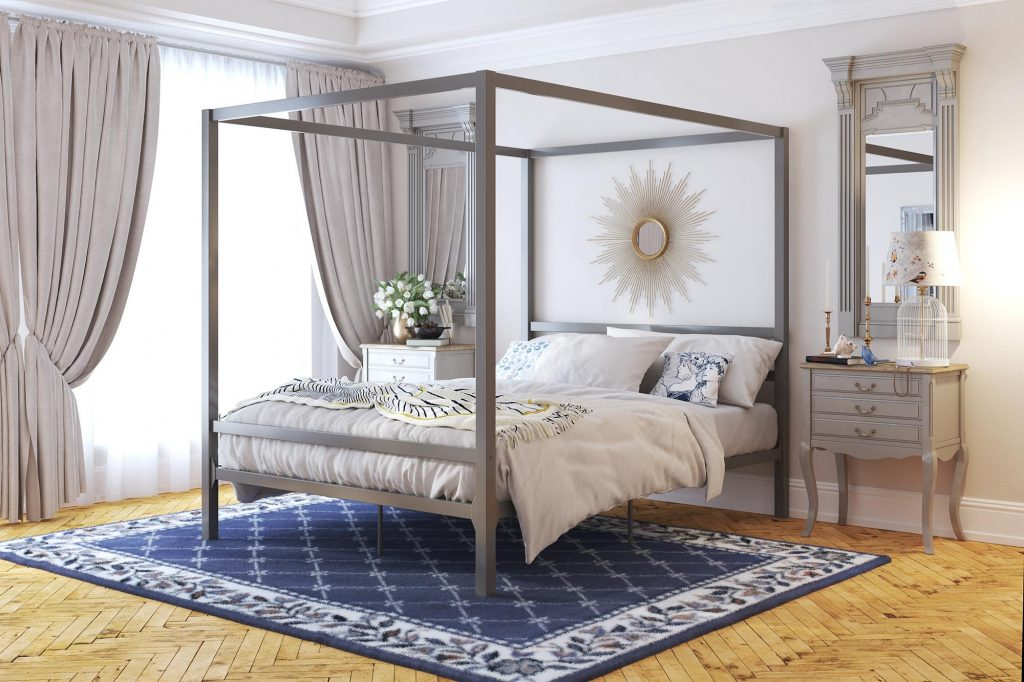 Modern Canopy Metal Bed Dhp Furniture