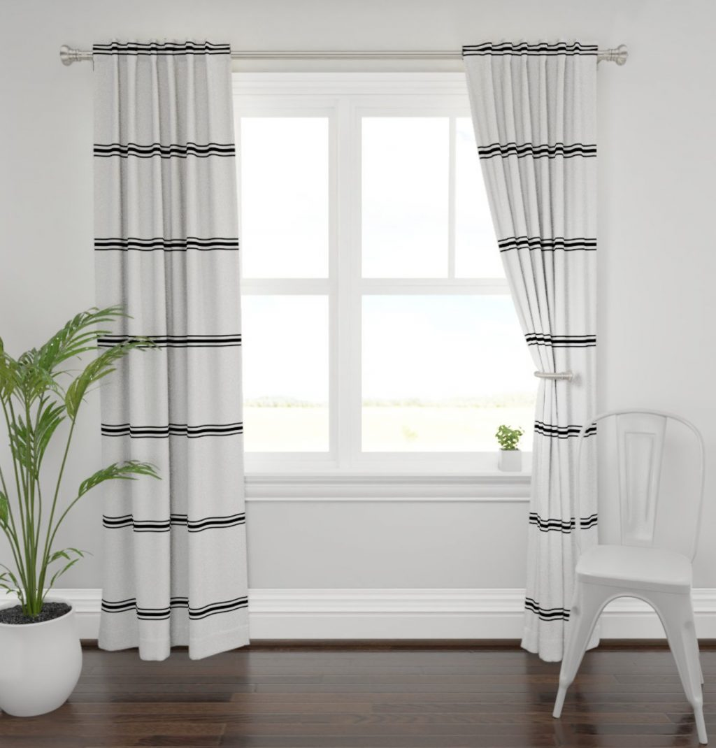 Modern Farmhouse Curtains Striped Farmhouse Curtains New Etsy