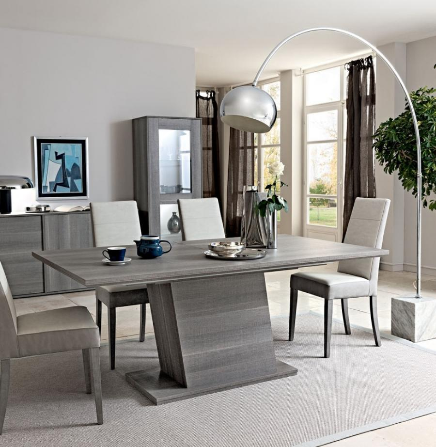 Modern Grey Dining Table Dining Room Furniture Trendy Natural Wood