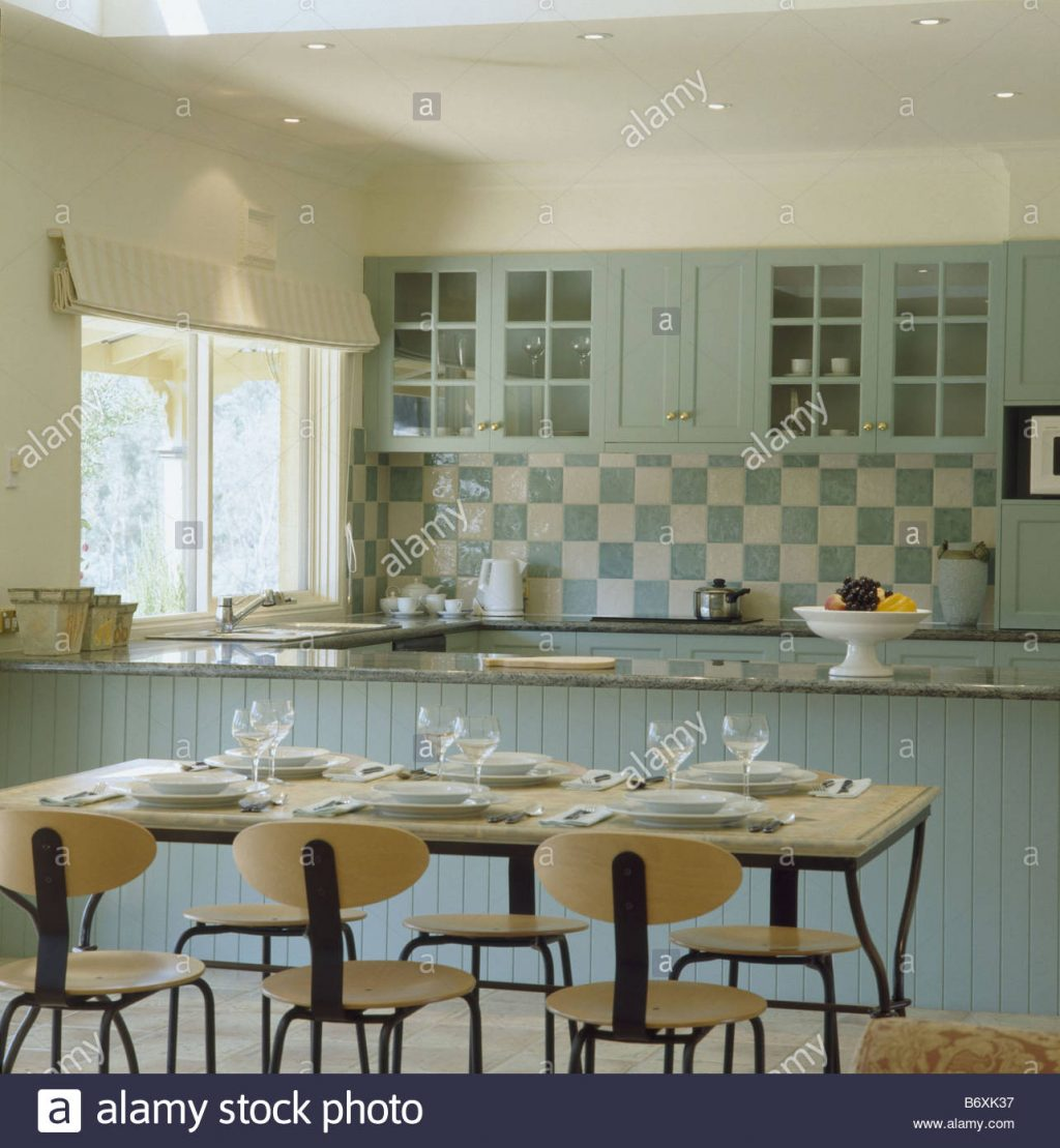 Modern Table And Chairs In Traditional Kitchen Dining Room With