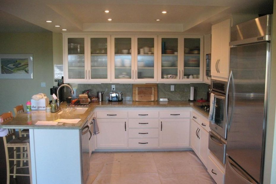 Modern Upper Kitchen Cabinets With Glass Doors For The Home