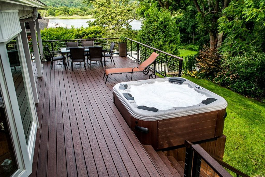 Multi Level Deck Design Ideas Home Design Ideas Hot Tub Hot