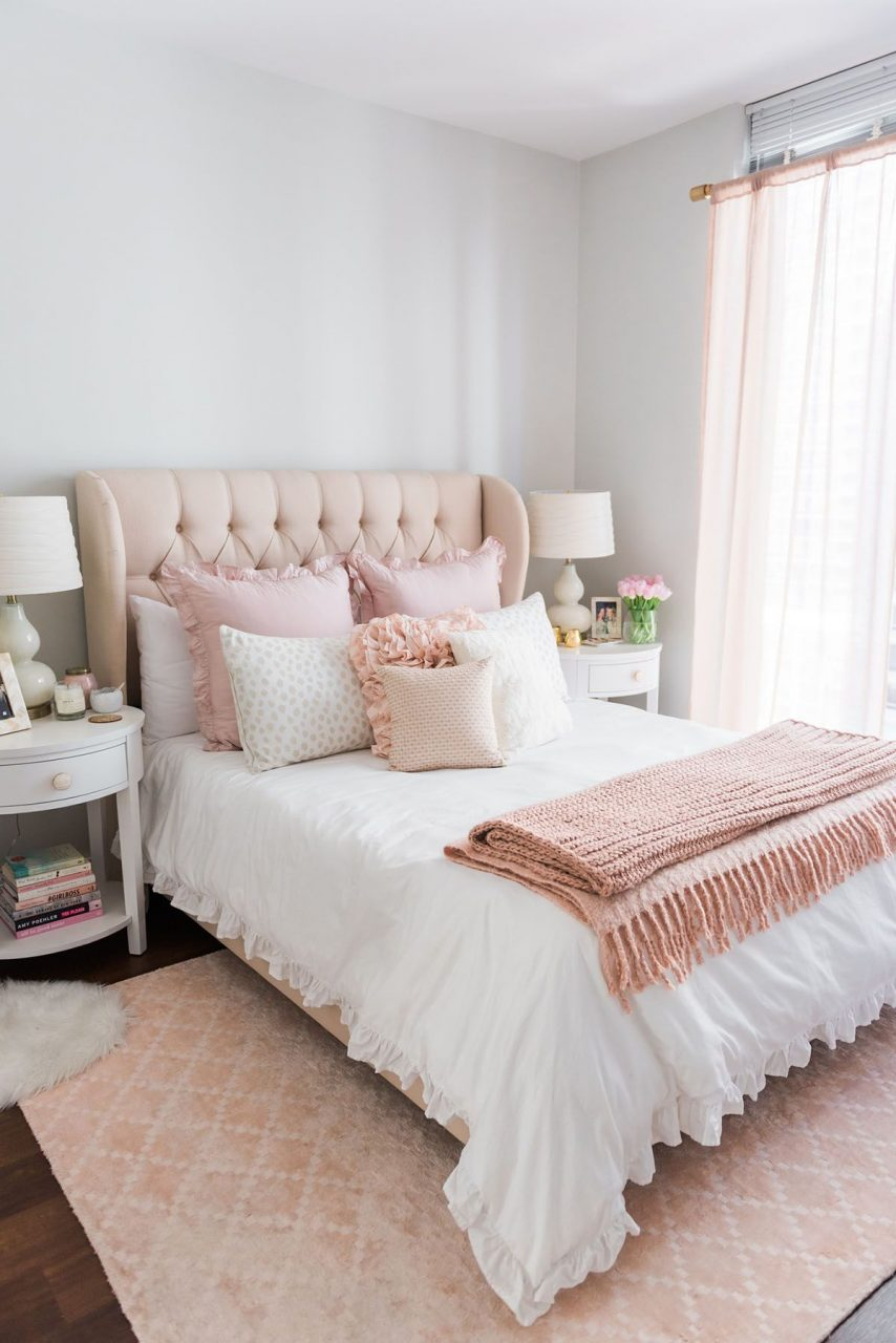 My Chicago Bedroom Parisian Chic Blush Pink Living Room
