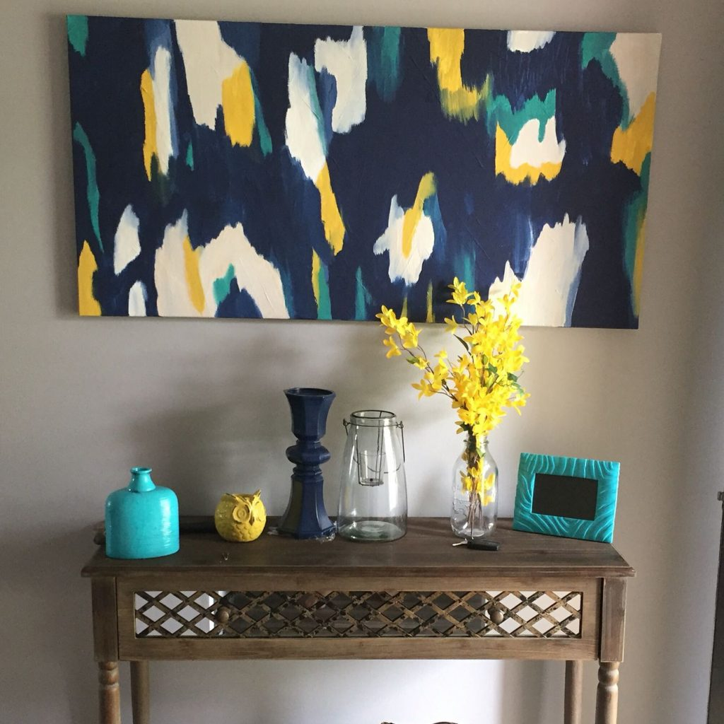 My Home Yellow Gray Turquoise And Navy For The Home Living Room