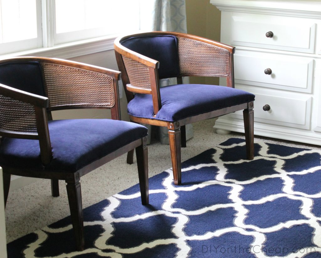 My Lazy Girls Guide To Reupholstering Chairs A Tutorial Erin Spain