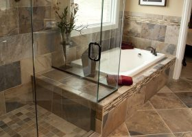 Natural Bathroom Tile Design Ideas