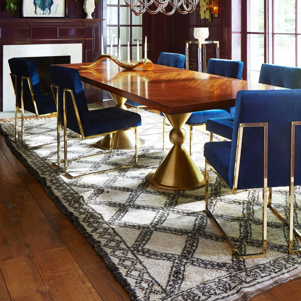 Navy Velvet Dining Chair In 2019 Chair Dining Room Dining Room