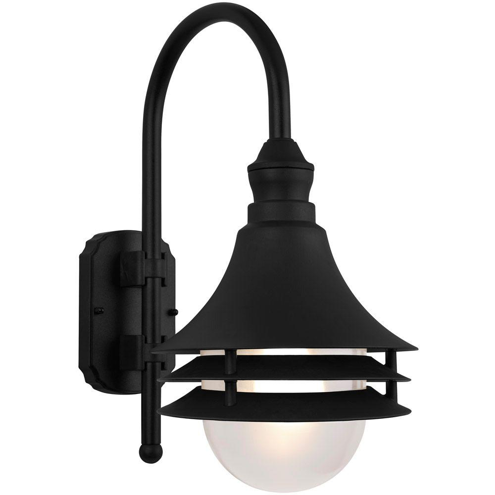 Newport Coastal Black Outdoor Batten Nautical Exterior Light 7972