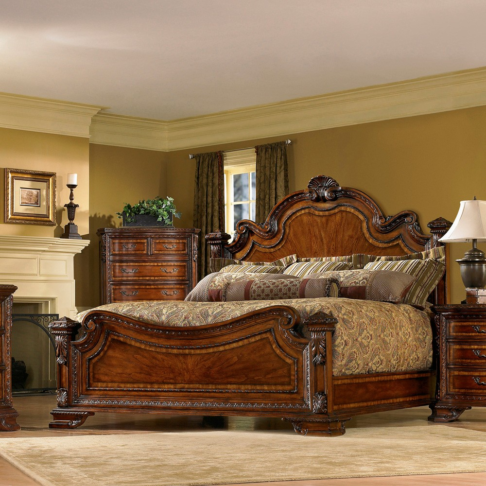 Old World Wood Panel Bed In Pomegranate Humble Abode