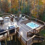 Outdoor Dining Area Sunken Hot Tub Outdoor Seating Area