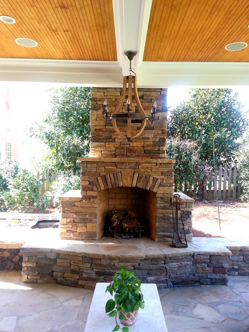 Outdoor Fireplace Design Gallery Charlotte Pavers Stone