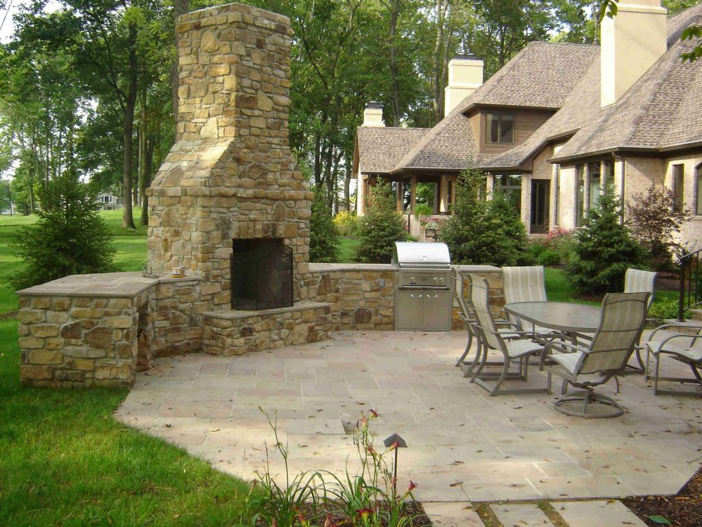 Outdoor Fireplace Stone Ideas Outdoor Ideas