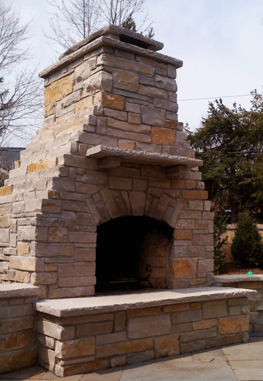 Outdoor Kitchen Fireplace Installation In Chicago Surrounding Areas