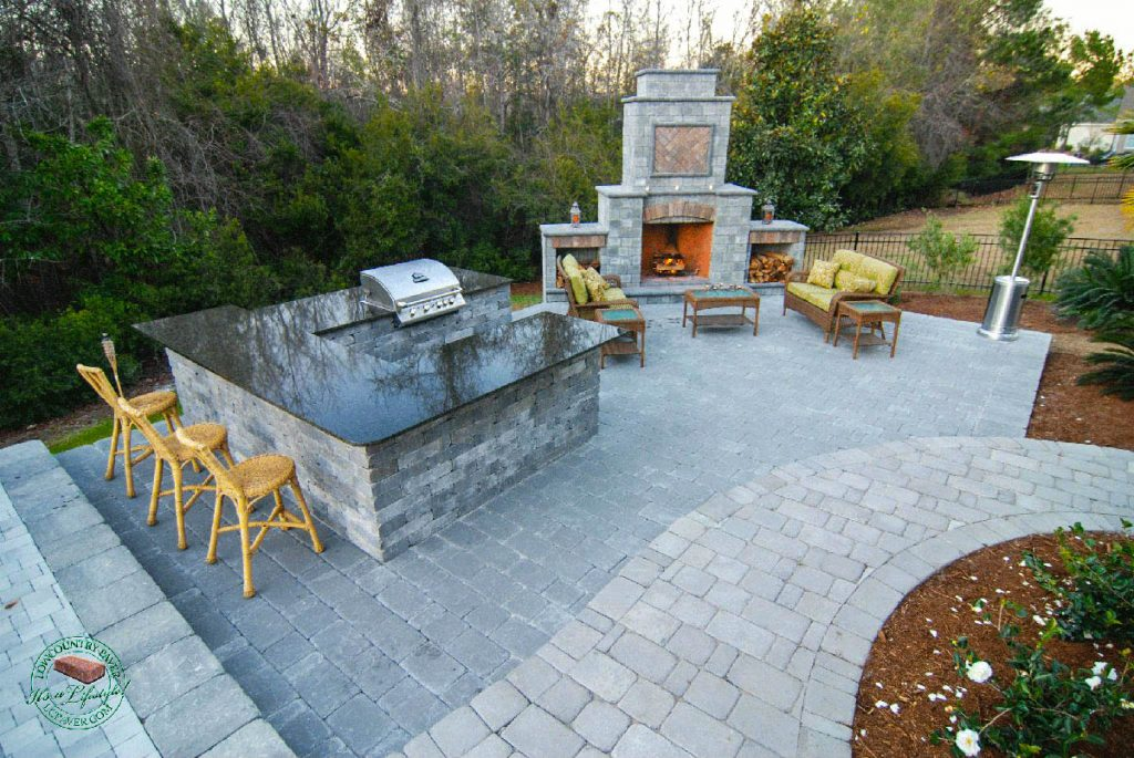 Outdoor Kitchen Fireplace Lowcountry Paver