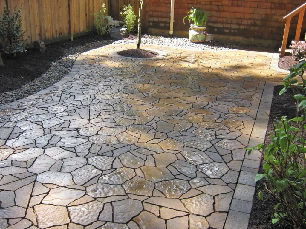 Outdoor Patio Stone Flooring Ideas Rugs 2018 Also Beautiful