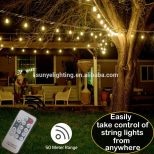 Outdoor Remote Control Dimmable Patio String Lights Led Vintage