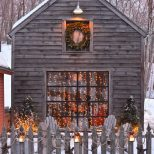 Outdoor Spaces Winter Lights Snow Christmas Pinterest