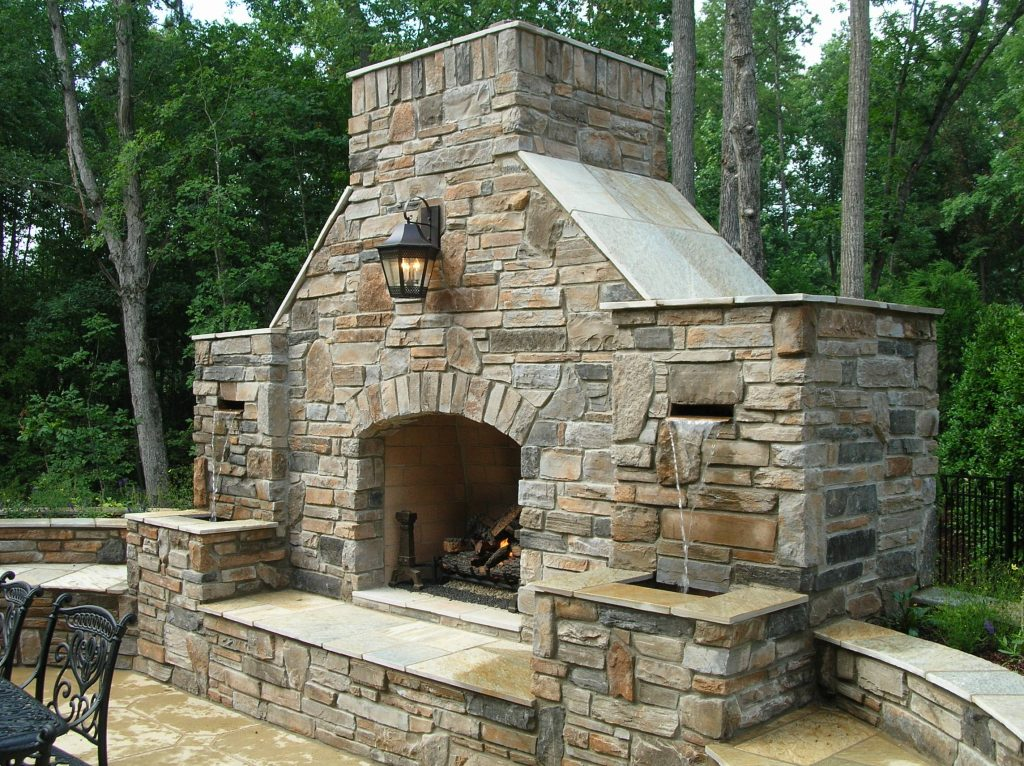 Outdoor Stone Fireplace Designs Pixelbox Home Design Stone