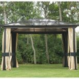 Outdoors Best Metal Roof Gazebo Ideas For Your Garden Metal Roof