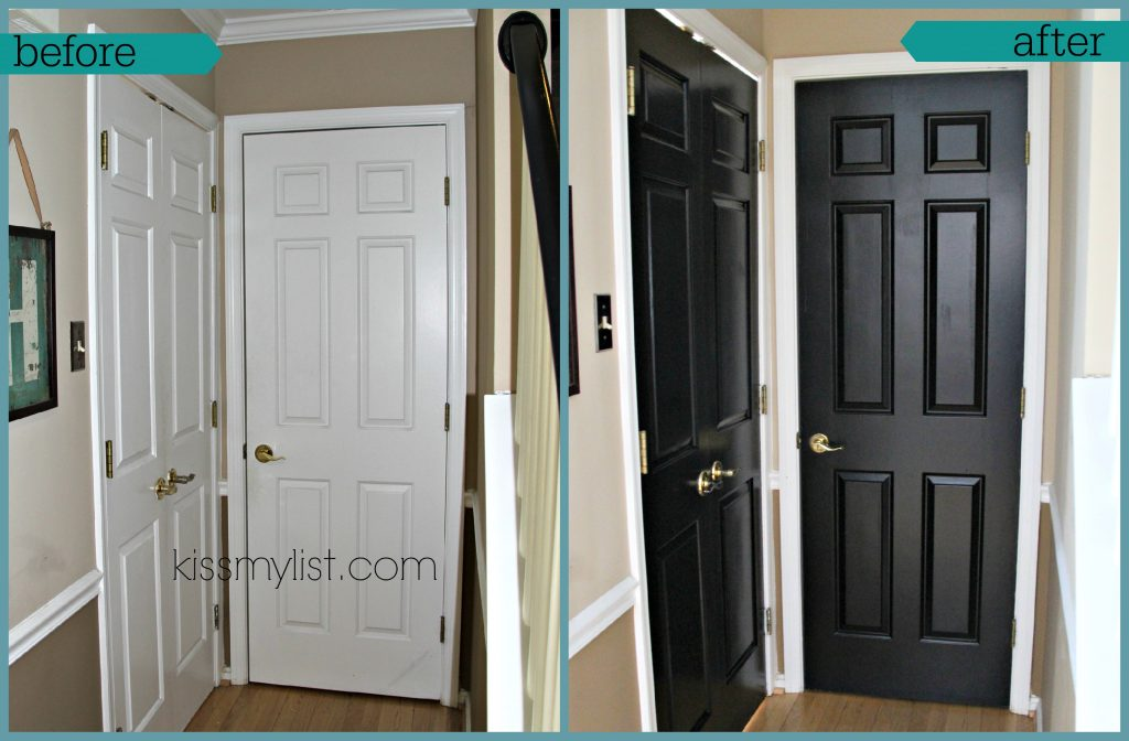 Painting Interior Doors Black Kiss My List