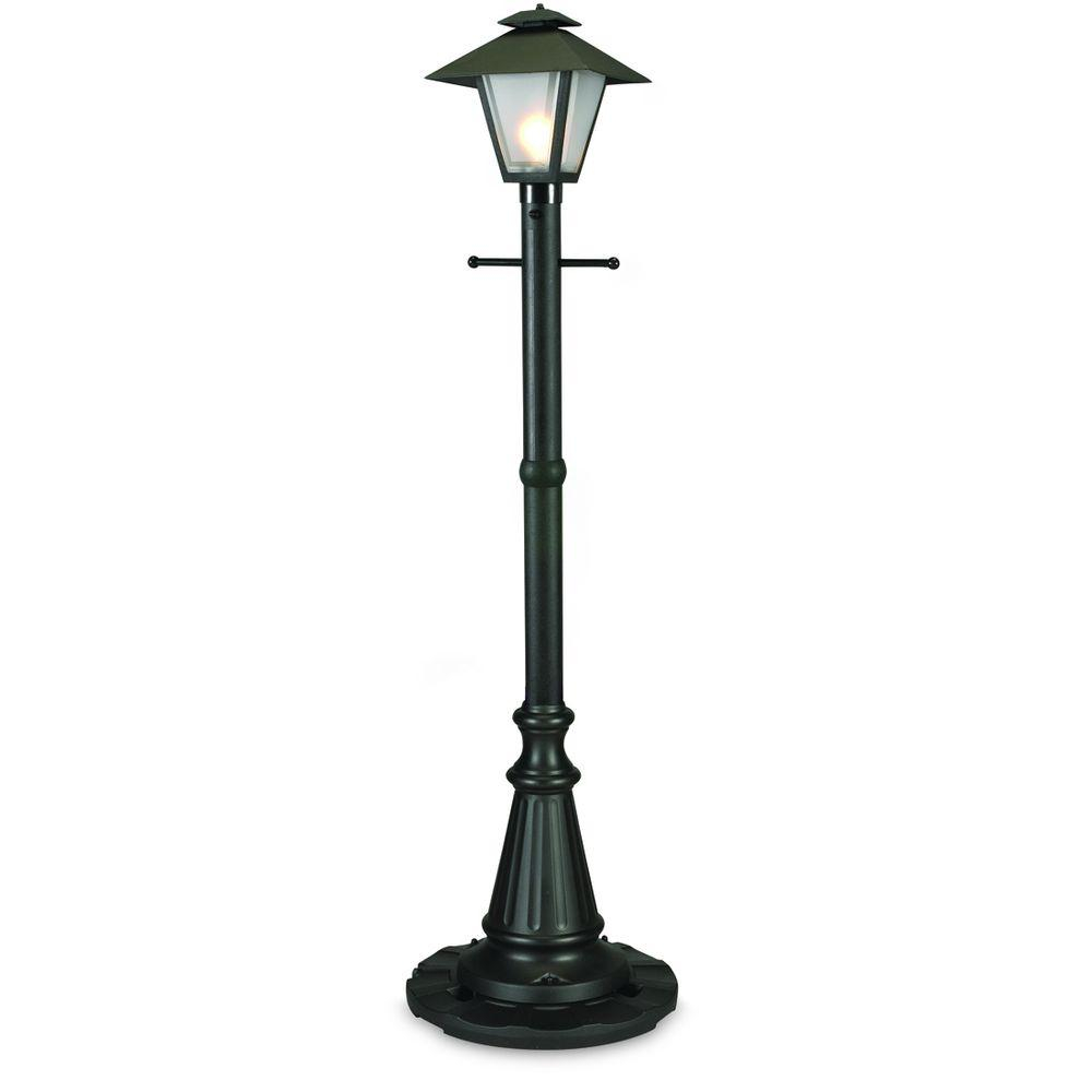Patio Living Concepts Cape Cod Black Outdoor Plug In Post Lantern