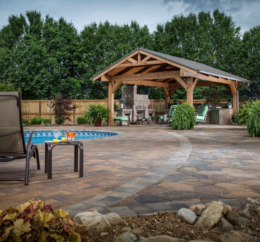 Paver Patio Ideas Backyard Design Stone Patio Pictures