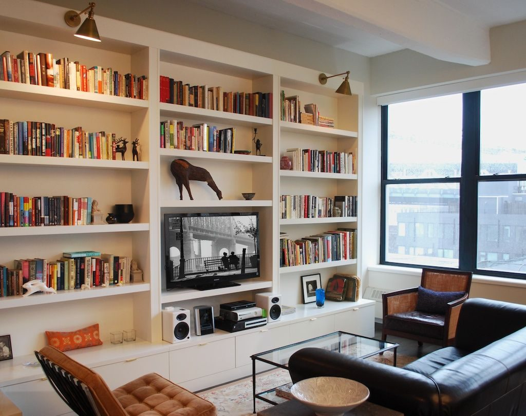 Pin Carian Mclean On Built In Shelves Wall Bookshelves