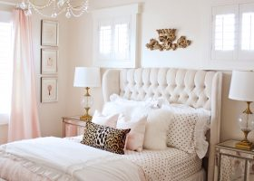 Blush Pink and Gold Bedroom Ideas