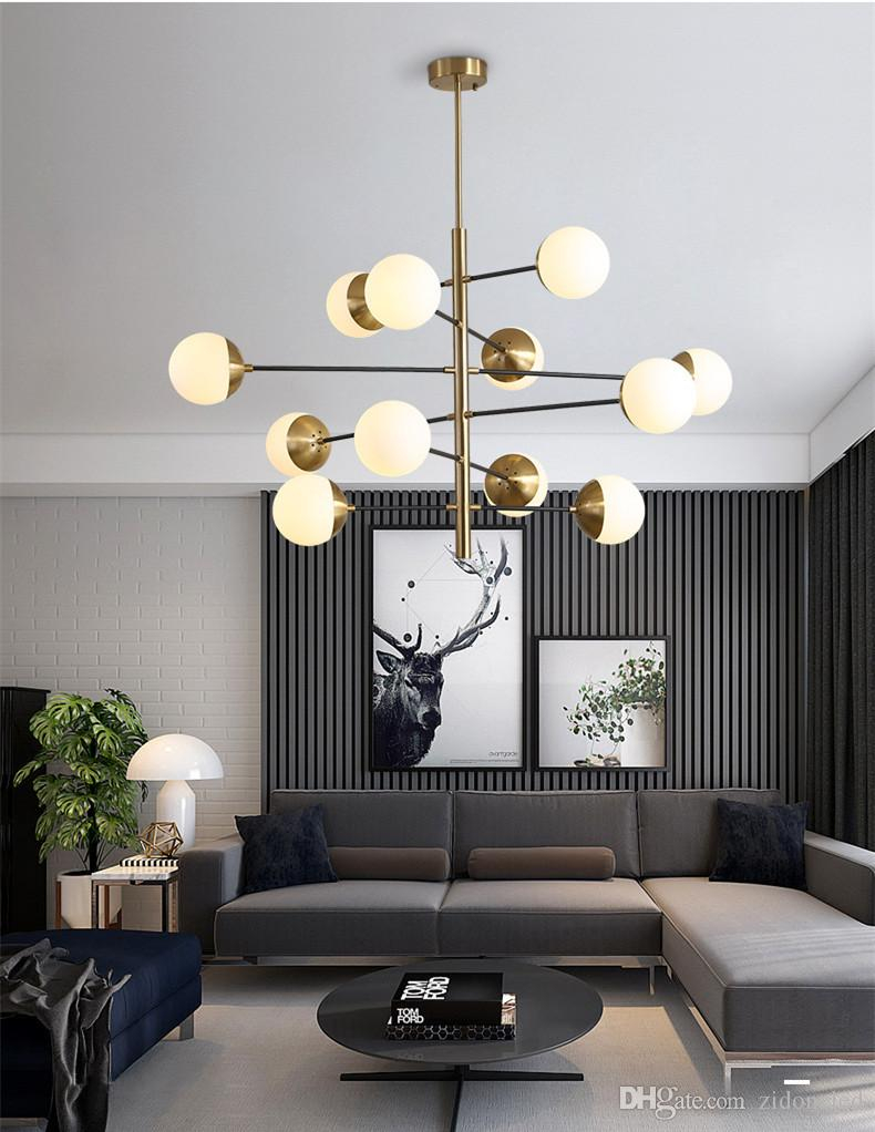 Postmodern Loft Molecular Pendant Light Art Glass Ball Chandeliers