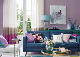Purple Living Room Paint Ideas