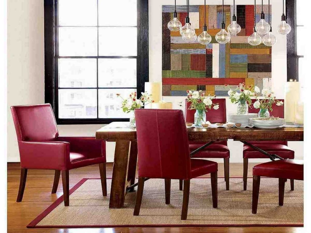 Red Leather Dining Room Chairs Leather Dining Chairs Pinterest