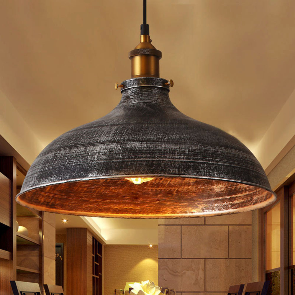 Retro Vintage Industrial Pendant Light Ceiling Lamp Rustic Shade