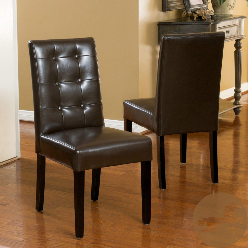 Roland Leather Dining Chairs Set Of 2 In 2019 Products Black