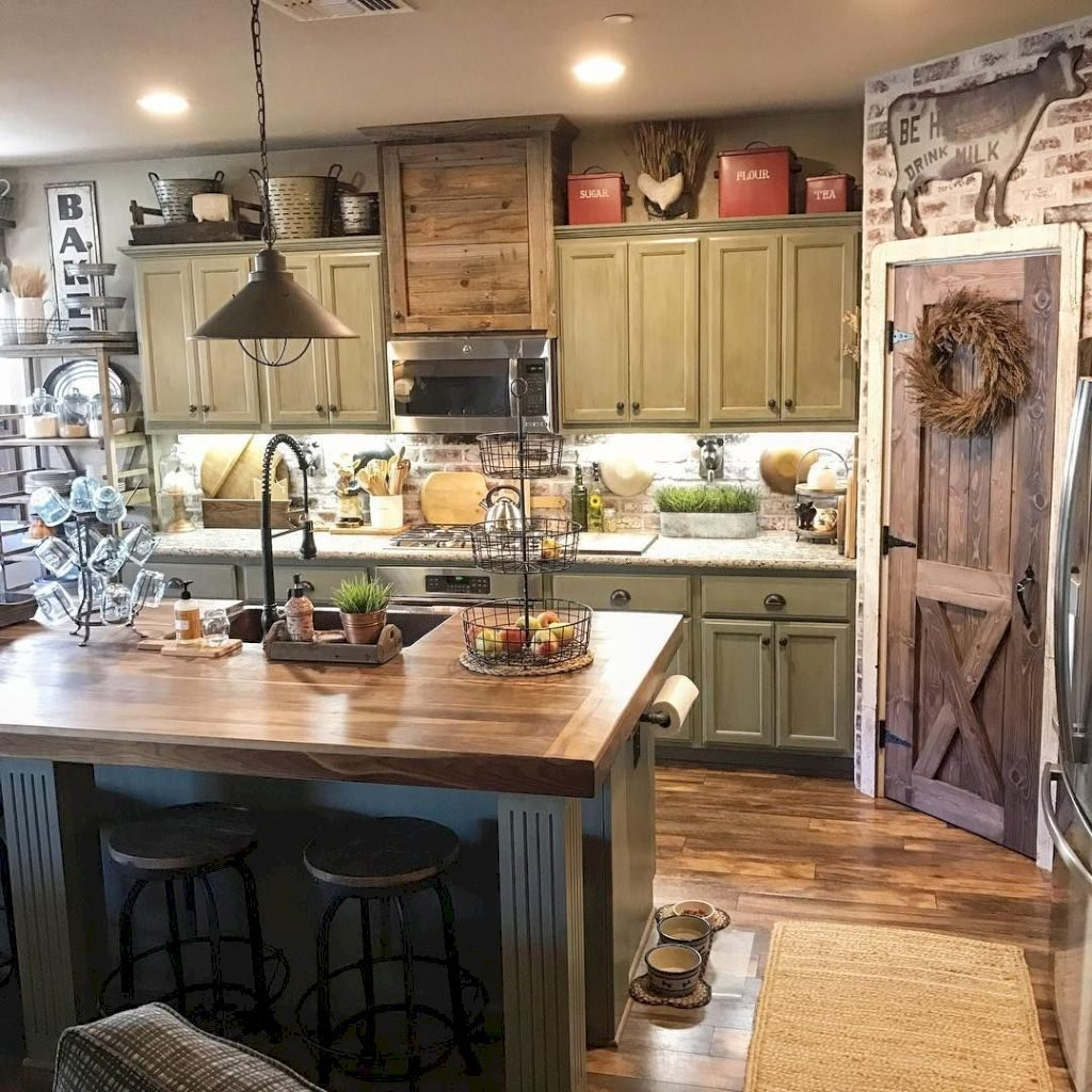 Rustic Country Kitchen Designs Monptitcocon