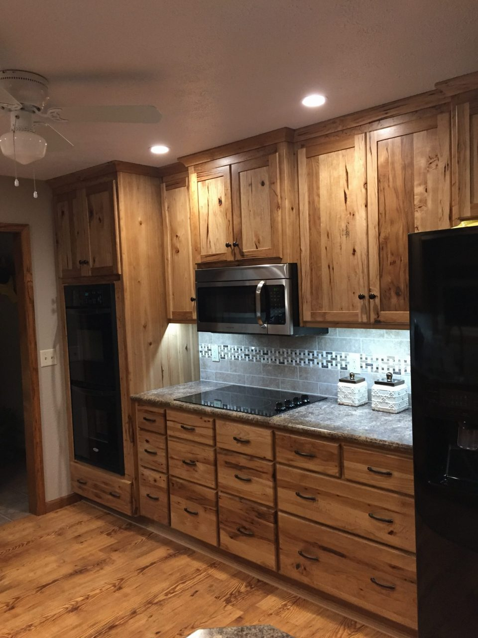 Rustic Hickory Kitchen Cabinets Wheatstate Wood Design
