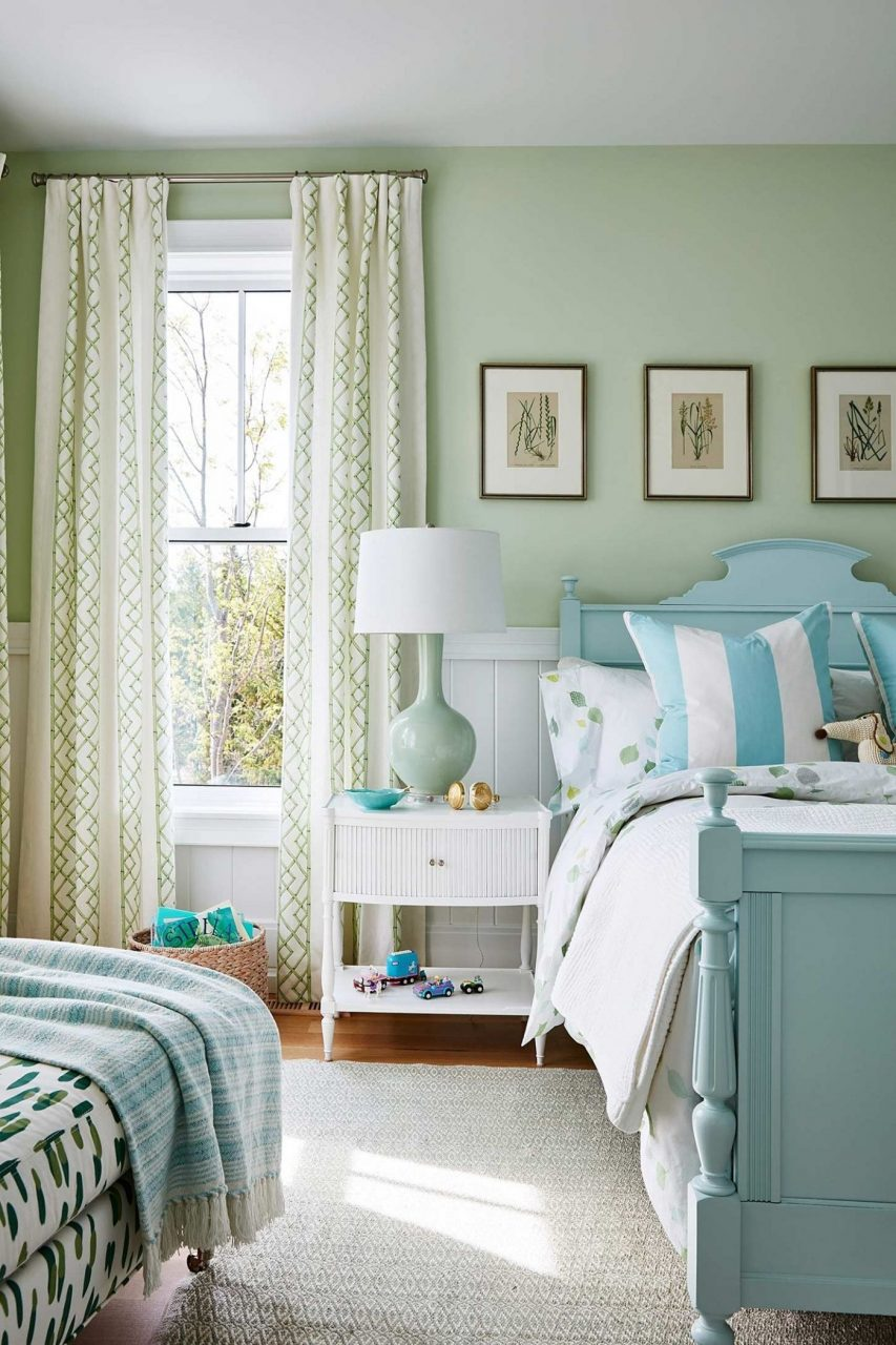 Sarah Richardson Mint Green Bedroom With Tiffany Blue Cottage Style