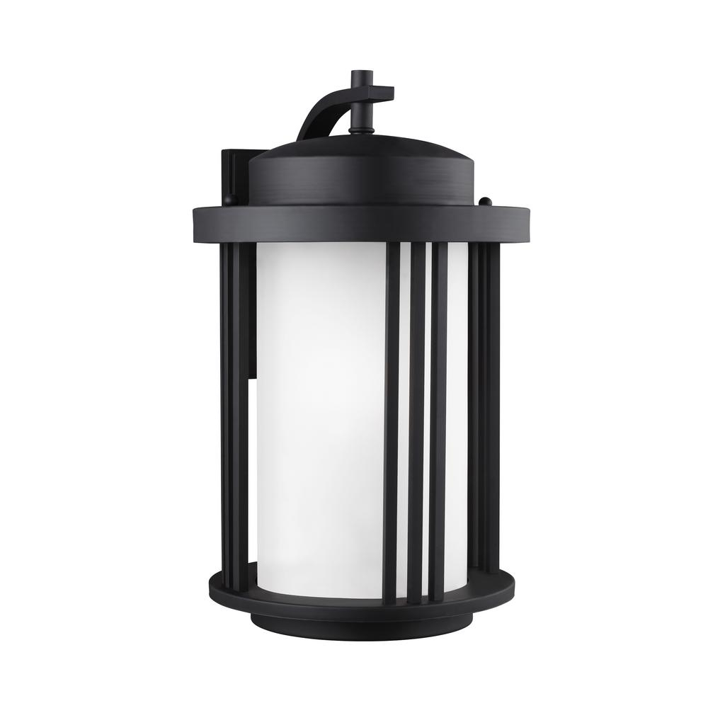 Sea Gull Lighting Crowell Large 1 Light Black Outdoor 195625 In