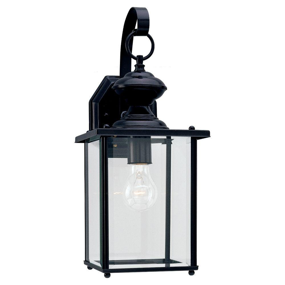 Sea Gull Lighting Jamestowne Large 7 In W 1 Light Black Outdoor