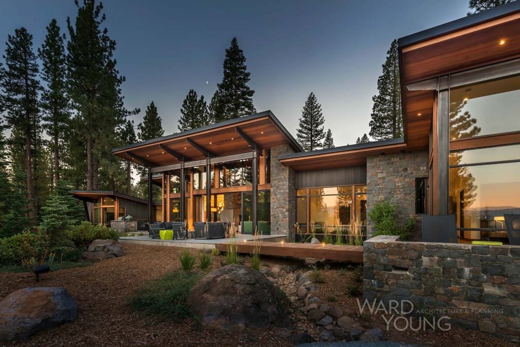 Secluded Mountain Modern Home In Martis Camp Surrounded Forest
