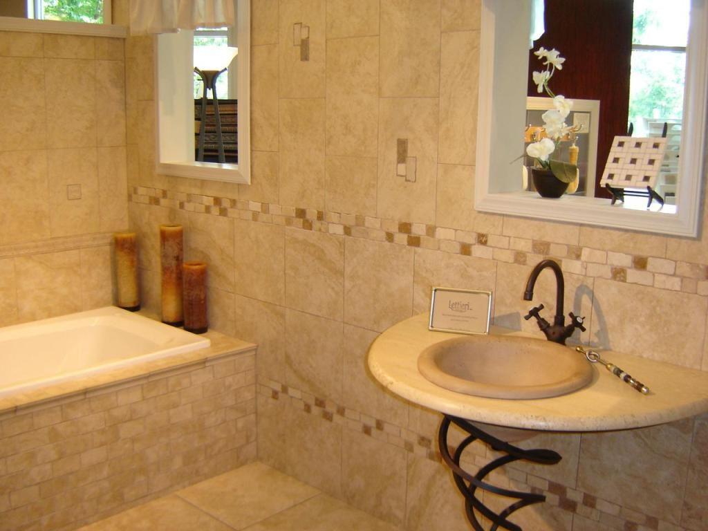 Selecting Rustic Bathroom Tile Natural Bathroom For Best