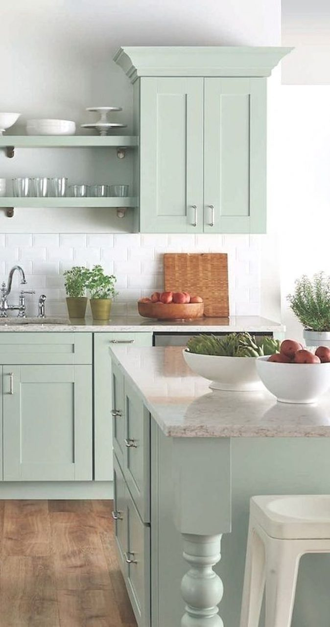 Selecting The Best Color For Your Kitchen Cabinets Cute Vintage