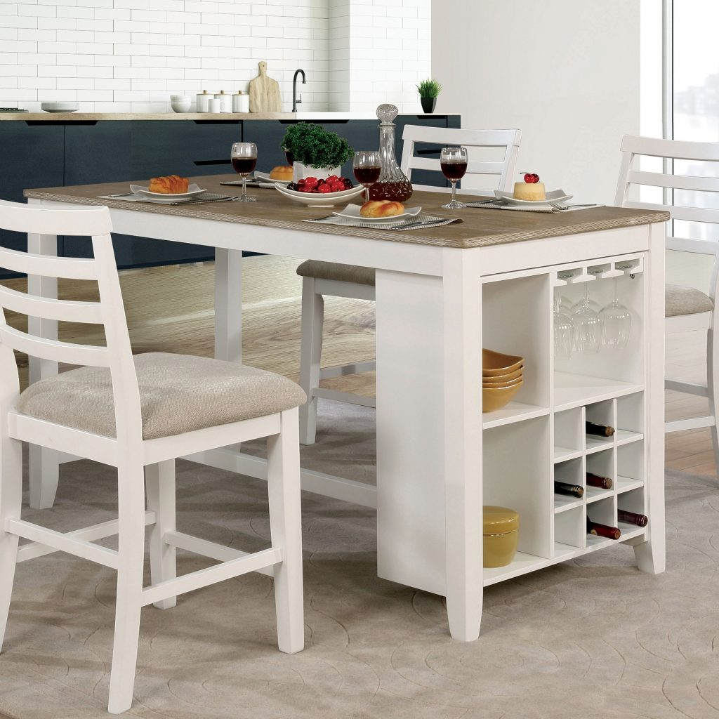 Shop Clement Rustic Counter Height Dining Table Foa Antique